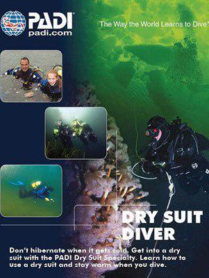PADI Dry Suit Diver Course - London - Mike's Dive Store