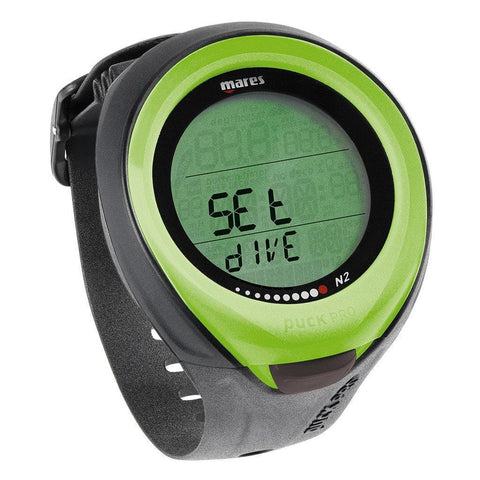 Mares Puck Pro Dive Computer - Lime - Mike's Dive Store