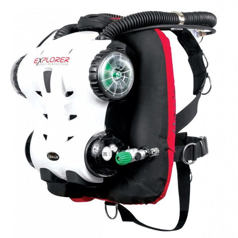 Hollis Explorer RebreatherExplorer Rebreather with Backplate and wing (One Size) / One Size - Mike's Dive Store - 1