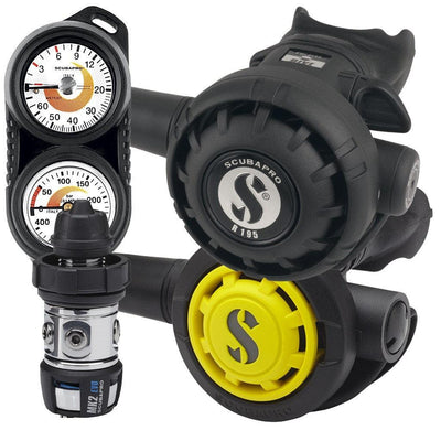 Scubapro MK2 R195 Regulator Set with Twin Console - DIN - Mike's Dive Store