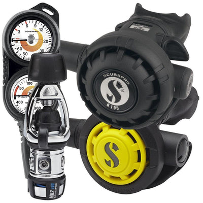 Scubapro MK2 R195 Regulator Set with Twin Console - INT - Mike's Dive Store