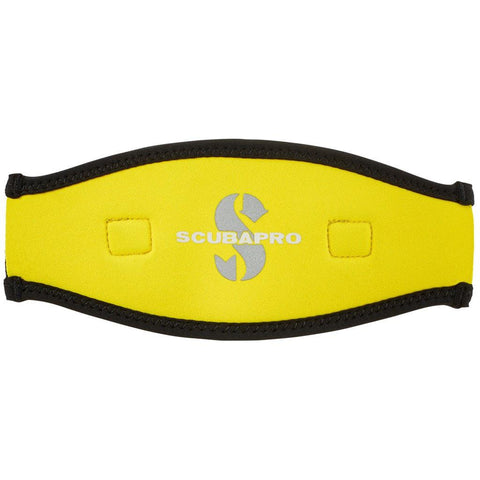 Scubapro Neoprene Mask Strap - Black / Yellow - Mike's Dive Store