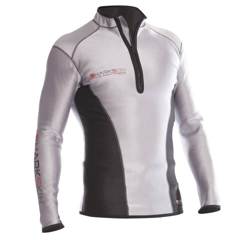 Sharkskin Chillproof Climate Control Long Sleeve - MensSilver/Black XXS - Mike's Dive Store