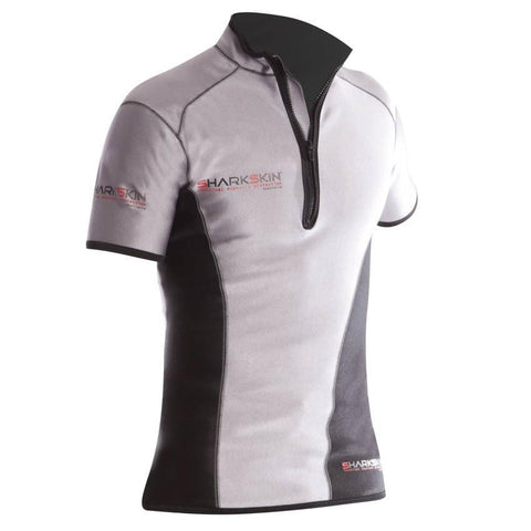 Sharkskin Chillproof Climate Control Short Sleeve - MensSilver/Black XXS - Mike's Dive Store