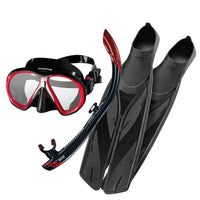 Atomic SubFrame Medium Fit Snorkelling SetRoyal Blue/Black / Splitfins, Full Foot, Black - 4.5-5.5 (37/38) - Mike's Dive Store - 1
