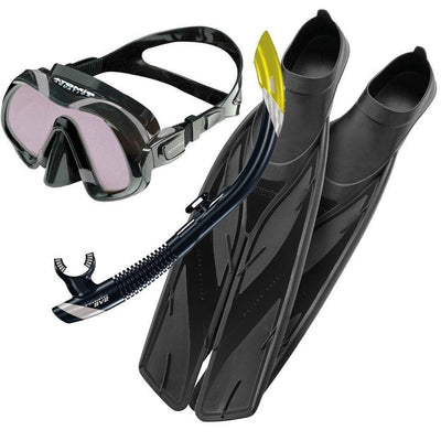 Snorkel Sets - Atomic Venom ARC Mask, Snorkel & Fins Set