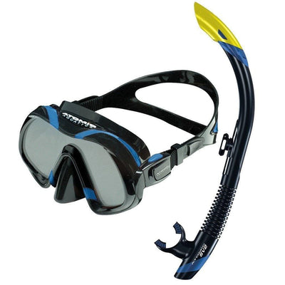 Snorkel Sets - Atomic Venom Mask, SV2 Snorkel And SplitFins Set