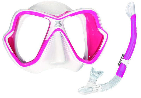 Mares X-Vision Snorkeling SetPink/White - Mike's Dive Store - 1