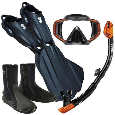 Scubapro Orange Snorkel Set - Mike's Dive Store