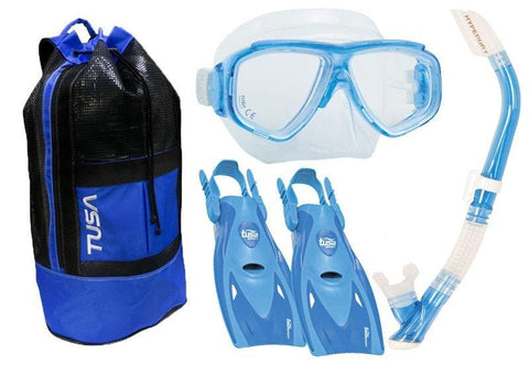 Tusa Splendive Ultimate Snorkelling SetS / Blue - Mike's Dive Store - 1