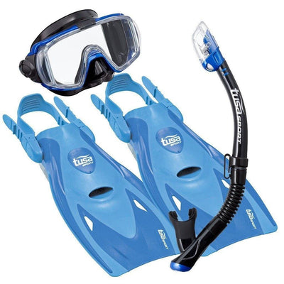 Snorkel Sets - Tusa Visio Tri-Ex Mask, Snorkel And Fin Set