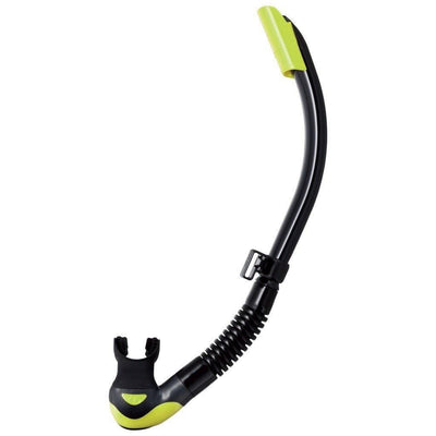 Tusa Platina Hyperdry II Snorkel - Black / Flash Yellow - Mike's Dive Store