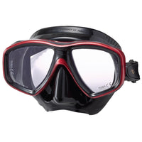 Tusa Freedom Ceos Pro Mask - Black / Metallic Dark Red - Mike's Dive Store