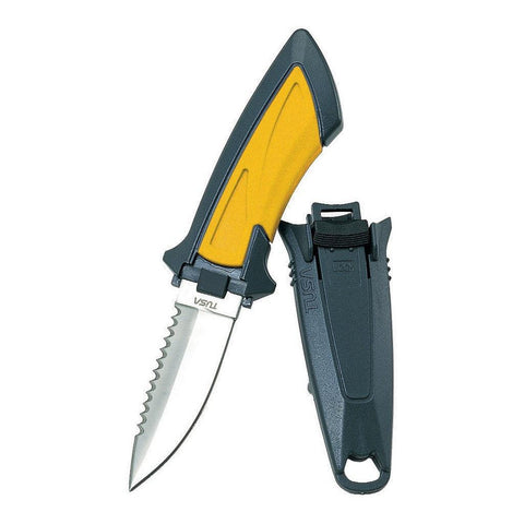 Tusa Imprex Mini Dive Knife - Yellow Point Tip - Mike's Dive Store