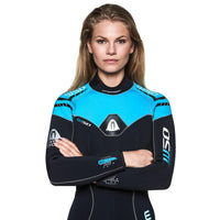 Waterproof W50 5mm Womens Wetsuit - Front Top Half - Mike's Dive Store