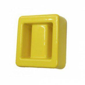 Lumb Lead Covered dive weights1 Kg Square - Yellow - Mike's Dive Store - 2