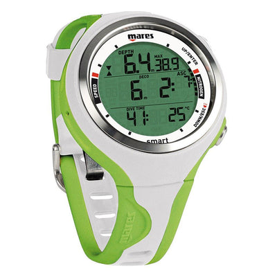 Mares Smart Dive Computer - White/Lime - Mike's Dive Store