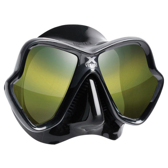 Mares X-Vision Ultra Liquidskin Mirrored Dive Mask - Gold Mirror - Mike's Dive Store