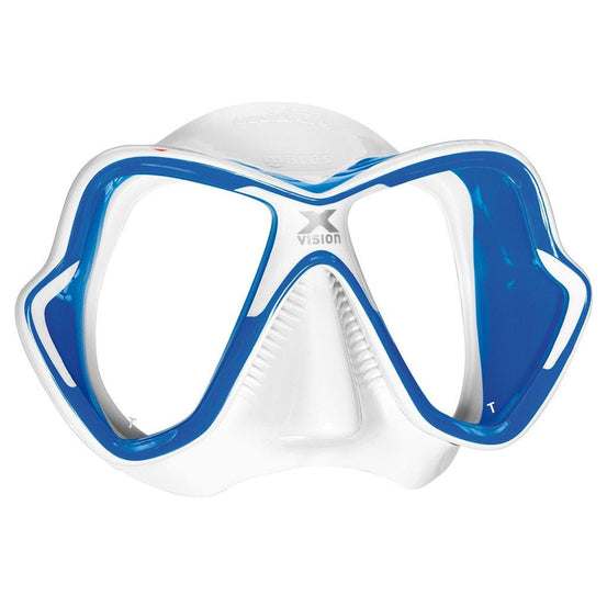 Mares X-Vision Ultra Liquidskin Dive Mask - Blue / White - Mike's Dive Store