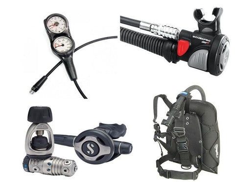Scubapro MK25 Titanium and Zeagle Lightweight Dive Travel Package