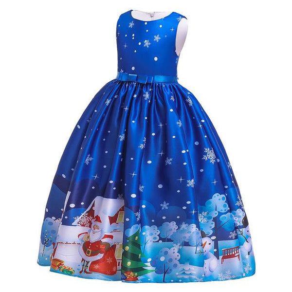Christmas costumes, European and American cartoon Snow White, show long skirts
