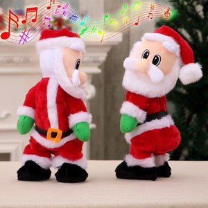 Christmas electric Santa Claus toy dynamic shaking hip music electric doll toy Christmas decoration gift