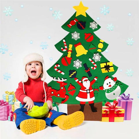 Felt cloth decorated Christmas tree Non-woven gift felt Christmas tree children's puzzle handmade DIY