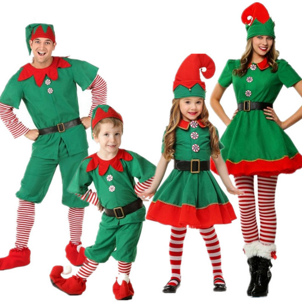 Christmas parent-child costume Christmas elf cosplay