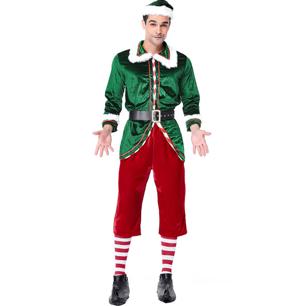 Christmas Costume Green Christmas Elf Set Party Cosplay Santa Claus Thicken Gift Socks