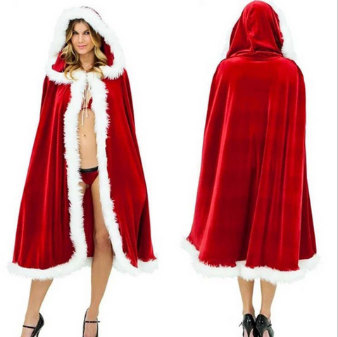 Christmas cloak stage performance party costume red cloak temptation cosplay costume