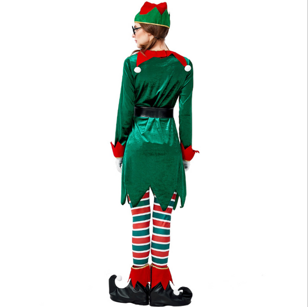 Christmas Elf Pack European and American Green Leprechaun Cosplay Costume Adult Green Set