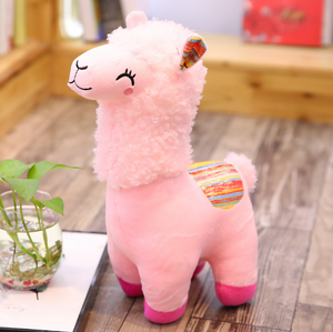 Christmas alpaca grass mud horse plush doll
