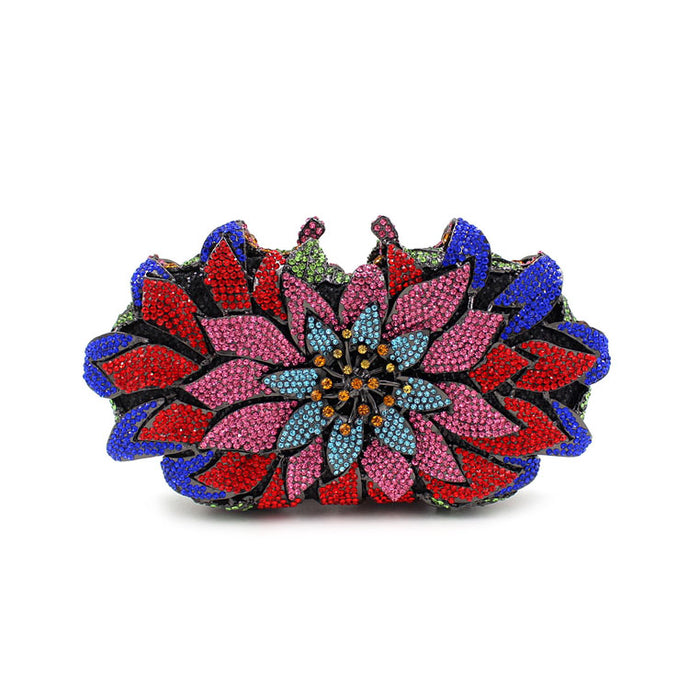 Colorful Flower Beaded Clutch