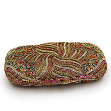 Load image into Gallery viewer, Embedded Glitter Stone Box Clutch - Gold