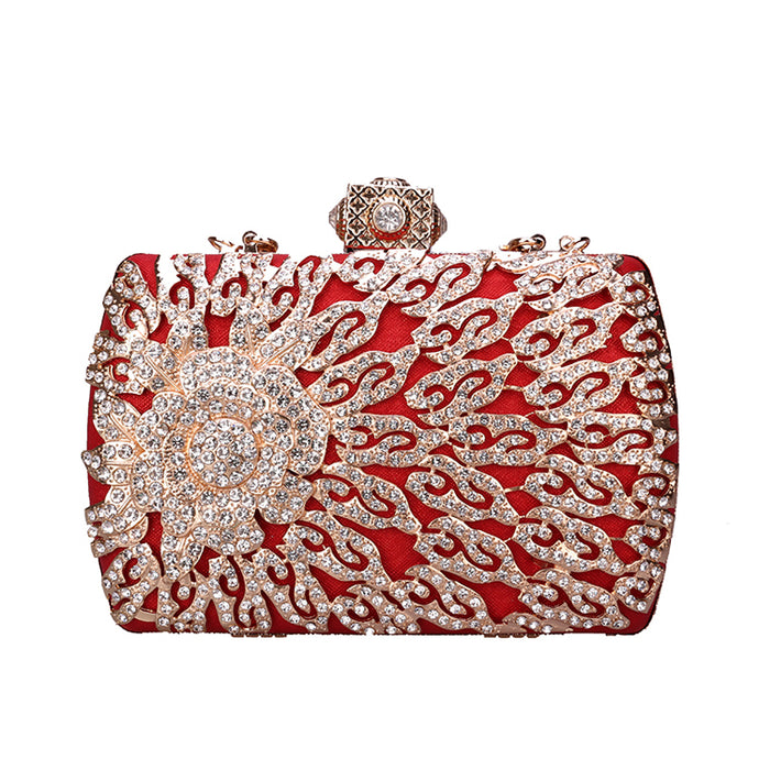 Red Diamond Luxury Rhinestone Clutch