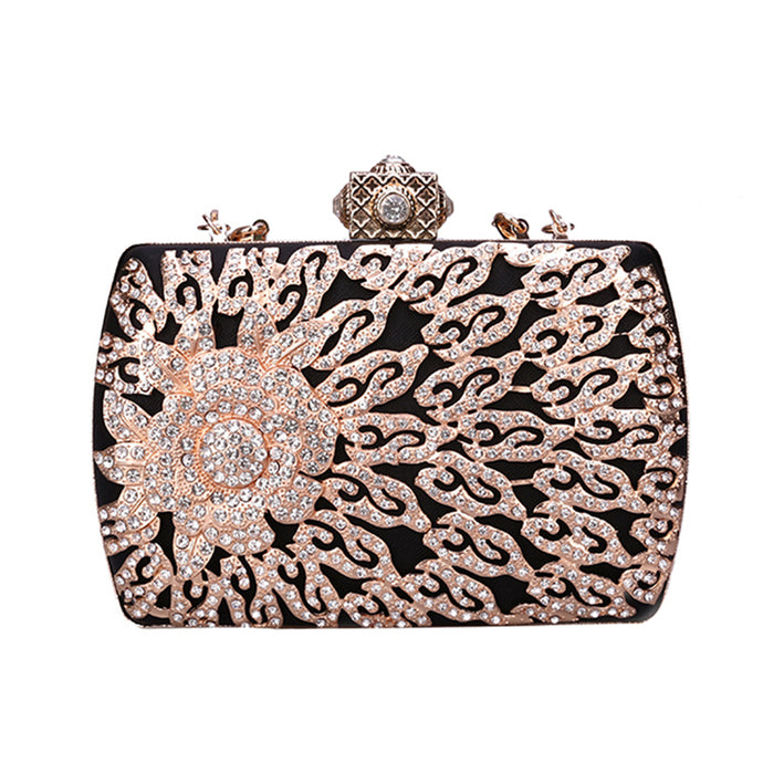 Black Diamond Luxury Rhinestone Clutch
