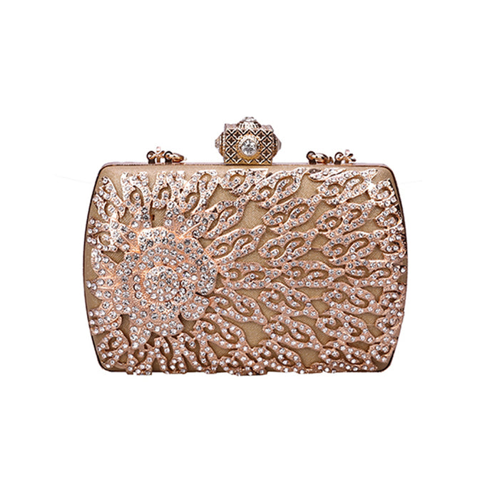 Golden Diamond Luxury Rhinestone Clutch