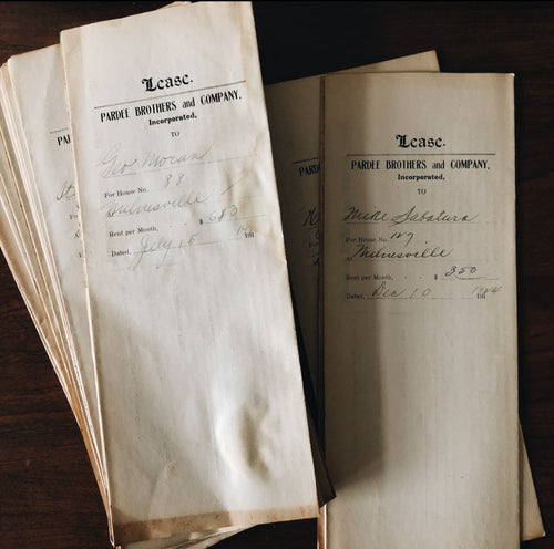 1920S LEASE DOCUMENTS.