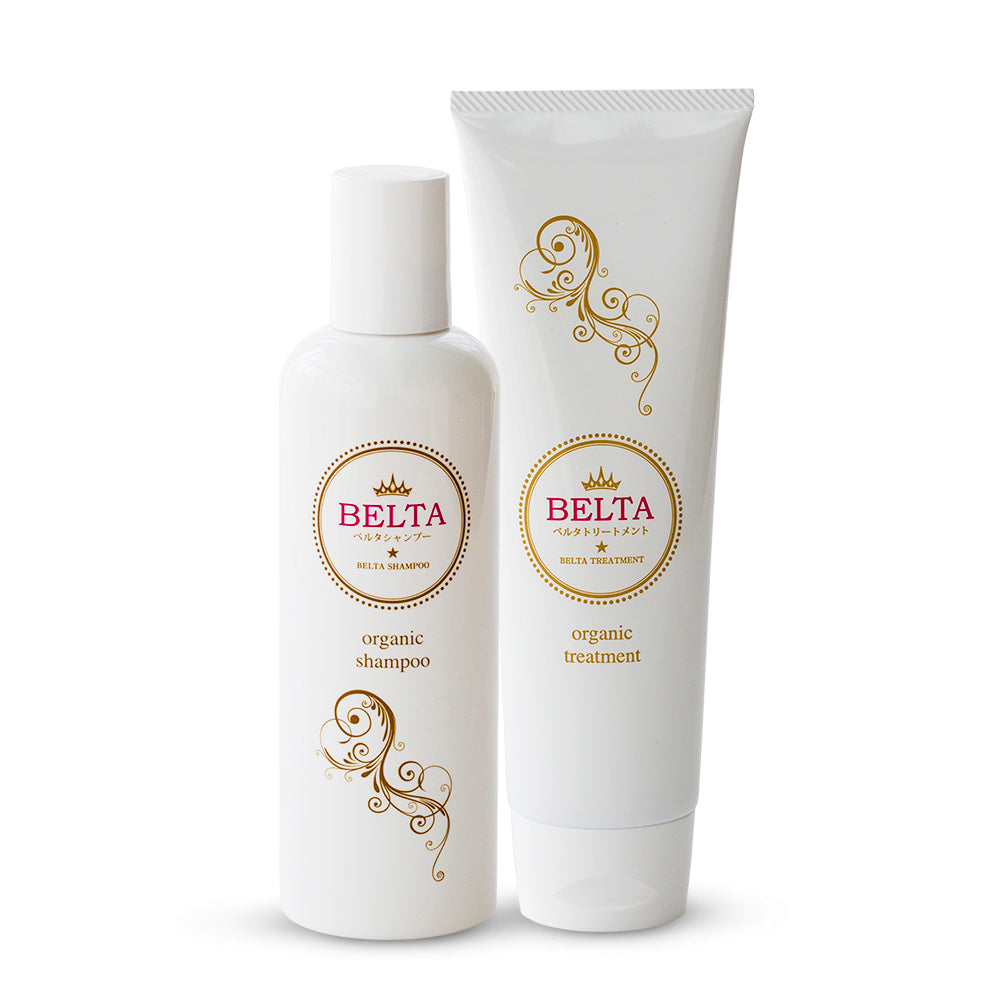 Belta Organic Hair Shampoo (220ml) & Treatment (200g) Bundle