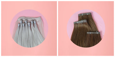 Hand Tied Wefts vs PU Skin Weft Hair Extensions