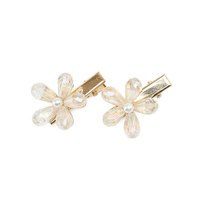 Evalina Periwinkle Crystal Clips In Clear