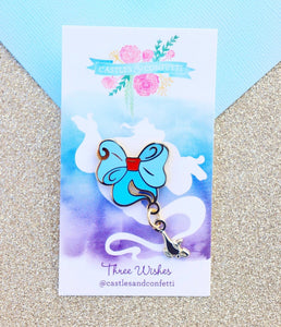 Three Wishes Bow Pin!