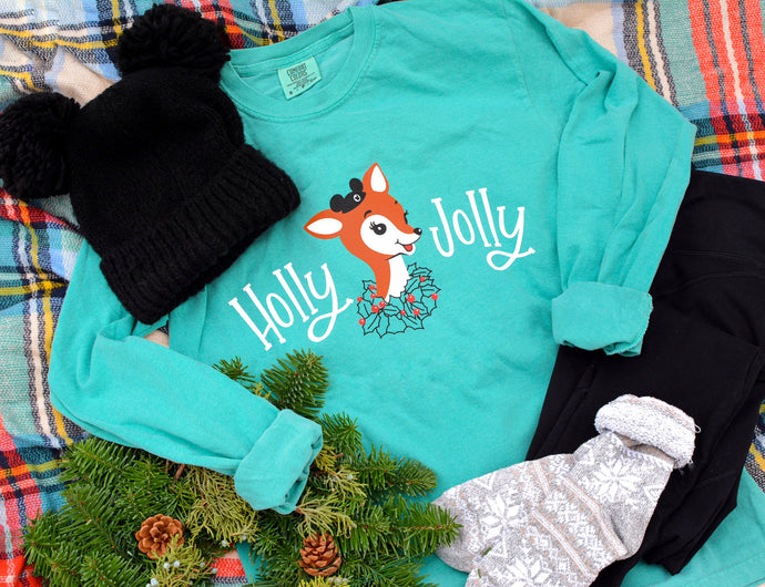 Holly Jolly Long Sleeve Tee!
