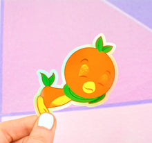 Load image into Gallery viewer, Orange Cutie Holographic Sticker!