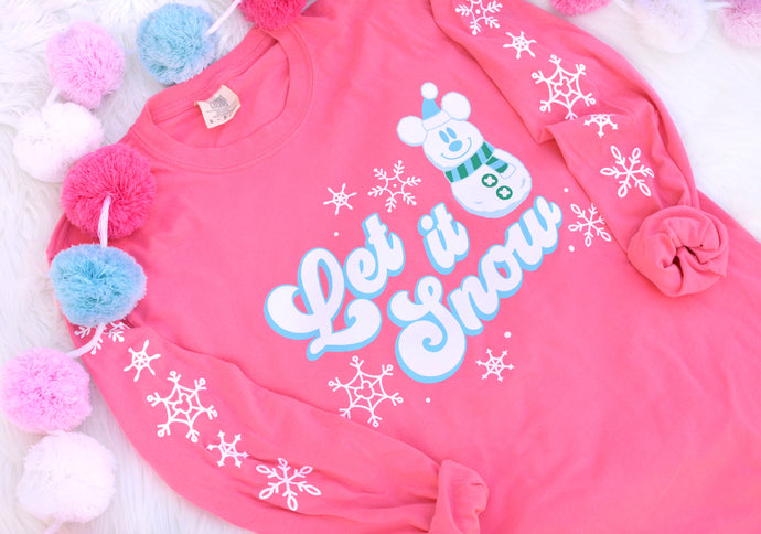 Let it Snow Long Sleeve Tee!