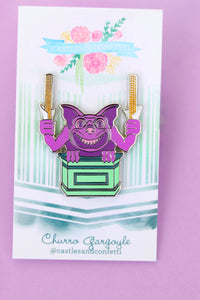 Churro Gargoyle Pin!