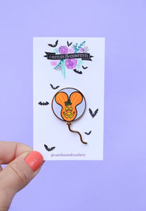 Mouse-o'-lantern Balloon Pin!