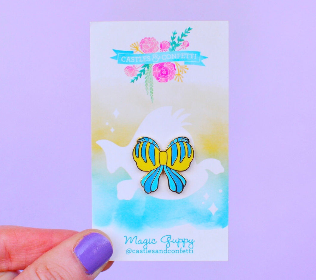 Magic Guppy Bow Pin!
