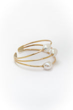 Load image into Gallery viewer, Triple multi wire Pearl ring