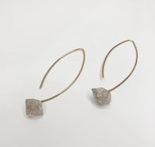 Load image into Gallery viewer, Herkimer Diamond Drop Earrings